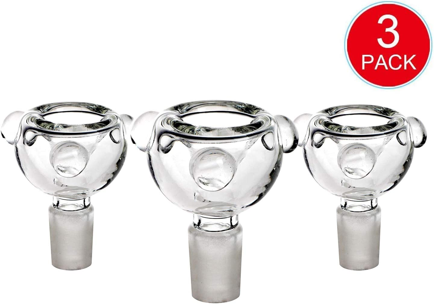Handmade Stained Water Bottle Gift for a Friend Bowl Spherical 14mm 3pack