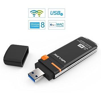 Wavlink AC1300 USB Wifi Adaptador Inalámbrica Alcance de Extención para PC Banda Dual 2.4G/400Mbps o 5G/867Mbps Tarjeta de Red con la Función WPS,Mini ...