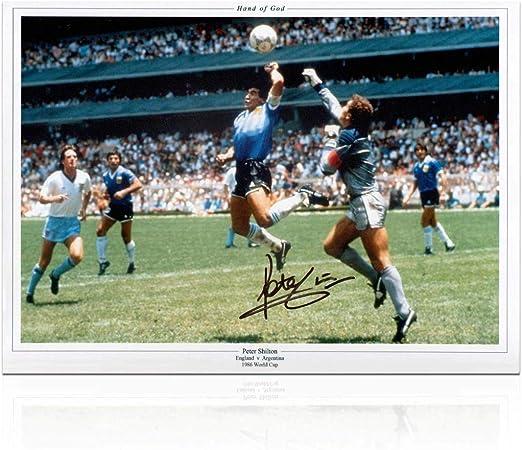 Peter Shilton Signed England Soccer Photo Autographed Sport Memorabilia The Hand Of God