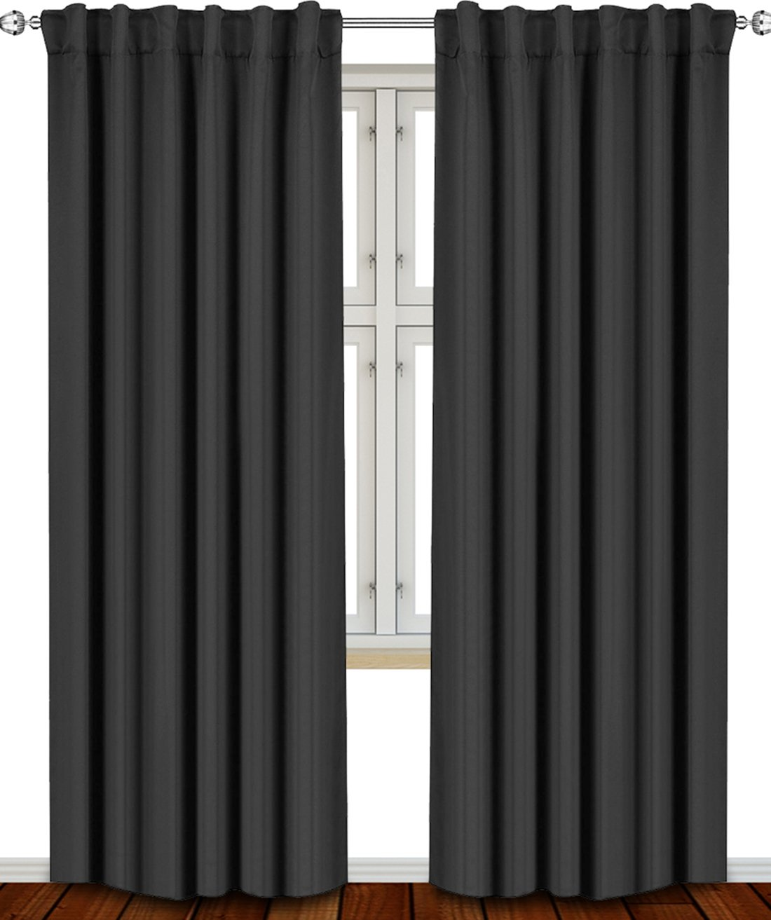 Black Curtains Drapes Best Deals Ease Bedding With Style