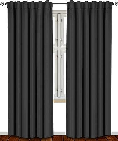 Curtains Ideas 115 inch curtains : Amazon.com: Blackout, Room Darkening Curtains Window Panel Drapes ...