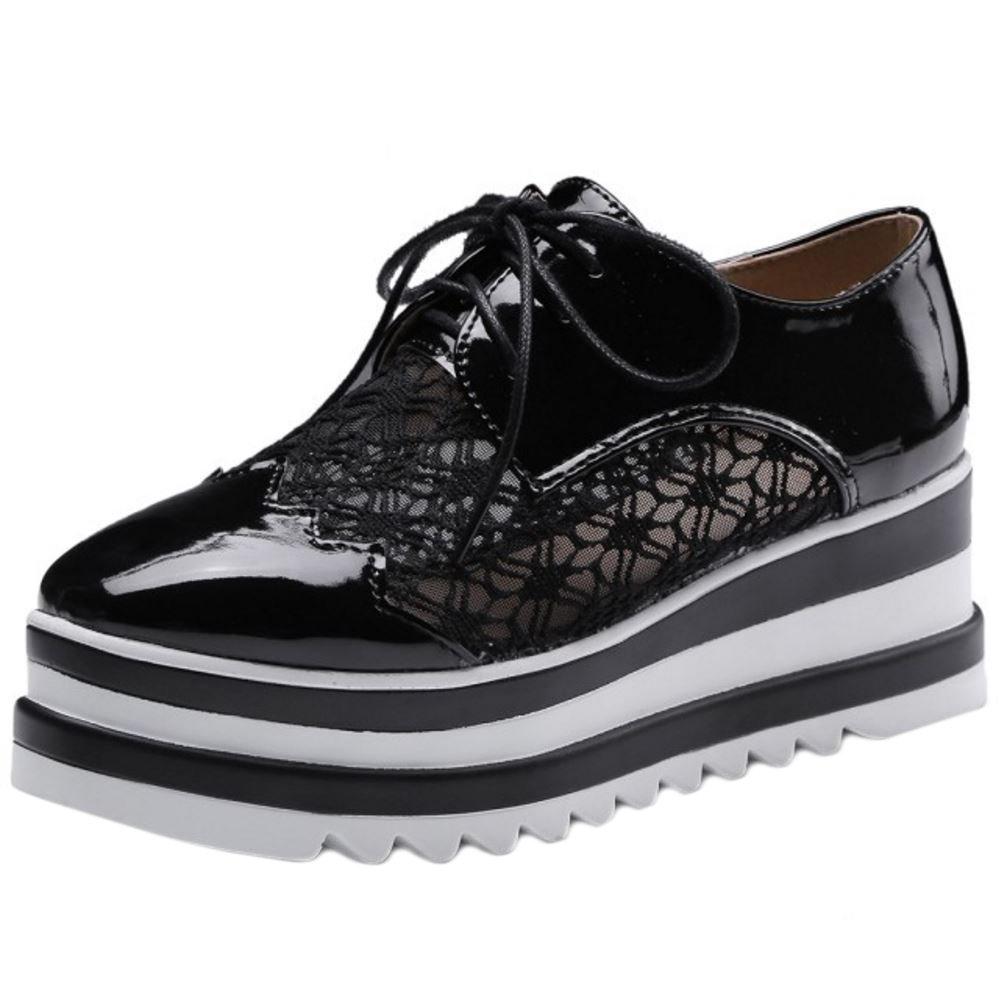 Zanpa Femmes B0039814XW Flatform Casual Flatform Chaussures Black Black cf36fde - automaticcouplings.space