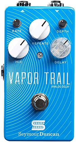 Seymour Duncan Electric Guitar Multi Effect, Silver, Small Medium Large X-Large 2X-Large (Vapor Trail Analog Delay Pedal)