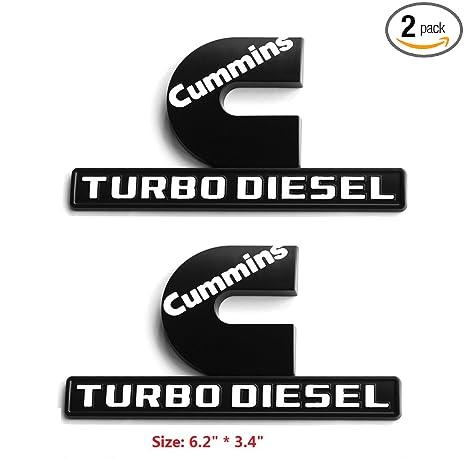 Cummins Turbo Diesel >> Amazon Com Yoaoo 2x Oem Black Cummins Turbo Diesel Emblem