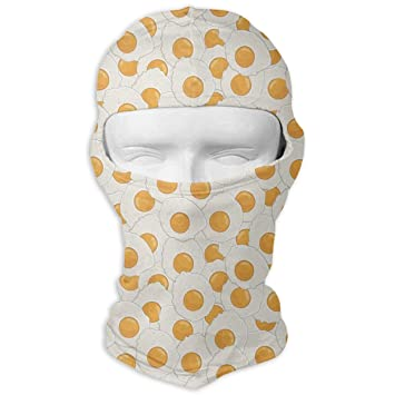 Xukmefat Huevos escalfados Máscara Facial a Prueba de Viento ...