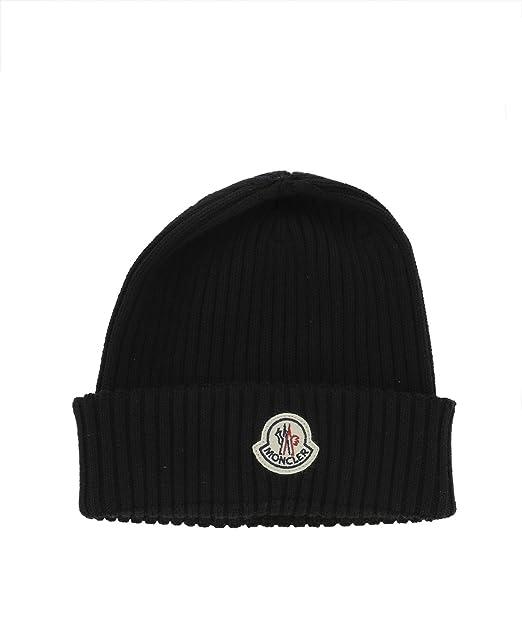 Moncler Cappello Uomo 002990002309999 Lana Nero  Amazon.it  Abbigliamento ababa8d80b8c