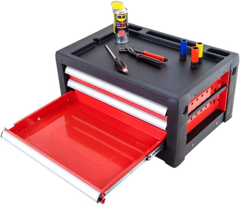 Caja de herramientas vacía de Ragnor ?Red Edition? con 3 cajones: Amazon.es: Bricolaje y herramientas