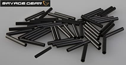 Savage Gear Wire Crimps M Ø1.2mm 100 Stück Quetschhülsen Klemmhülsen