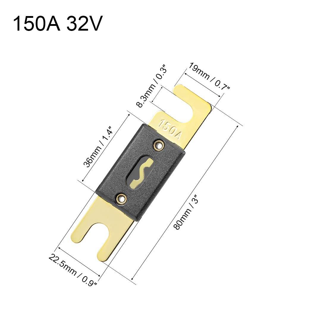 Sourcingmap ANL Fusible DC 32 voltios para Auto Coche veh/ículo Amplificador de Audio Inversor de Repuesto