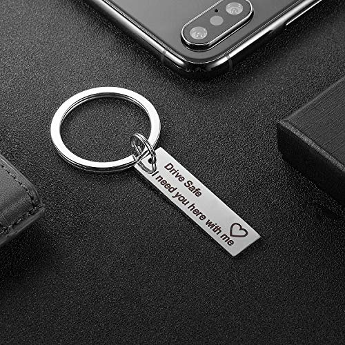 Relax Drive Safe Keychain, I Need You here with me, Gift for Husband,Boyfriend and Best Friend Photo #7
