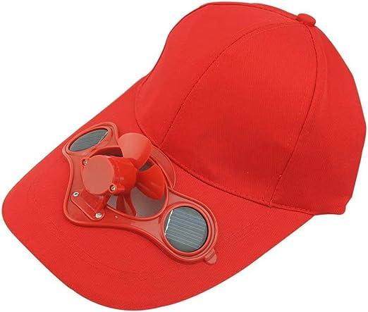 Gorra de béisbol, Gorra con Ventilador Solar, Gorra para Viajes al ...