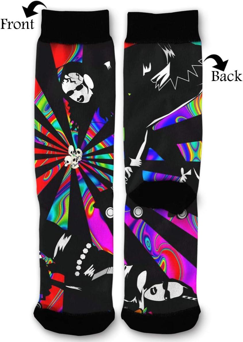 BLongTai Knee High Compression Socks Psychedelic Skater Girls for Women and Men Sport Crew Tube Socks