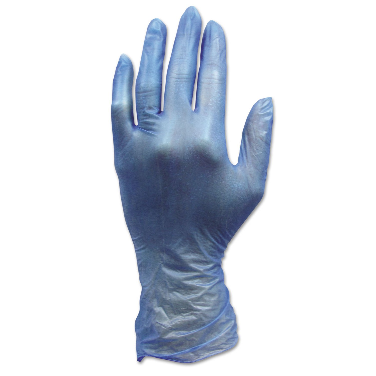 Hospital Specialty GLV144FL ProWorks Disposable Vinyl Gloves Large Blue 1000/Carton