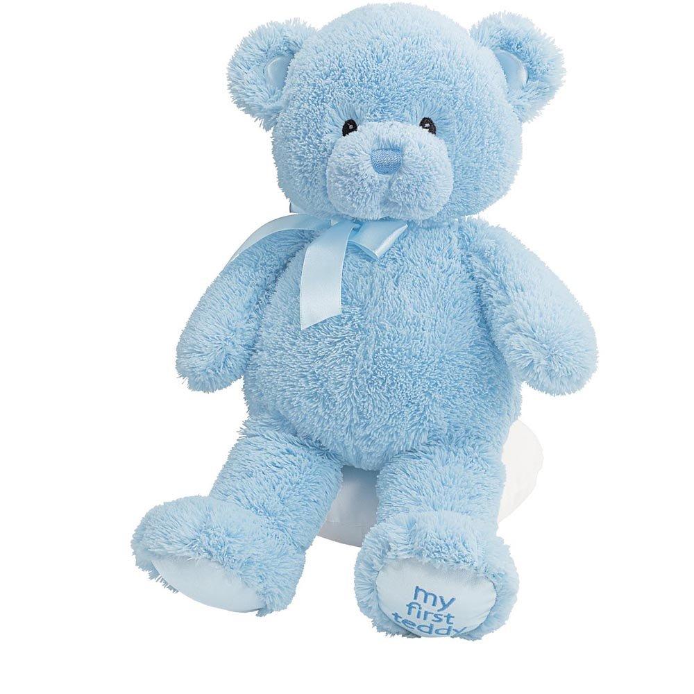 Amazon.com: Gund Baby My First Teddy-Medium-Blue: Toys & Games