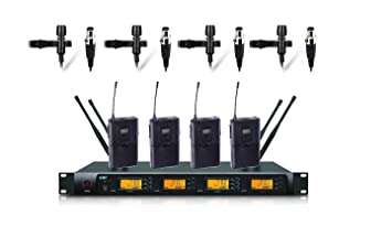 Boly 4100s - Micrófono de solapa inalámbrico UHF profesional, 4 ...