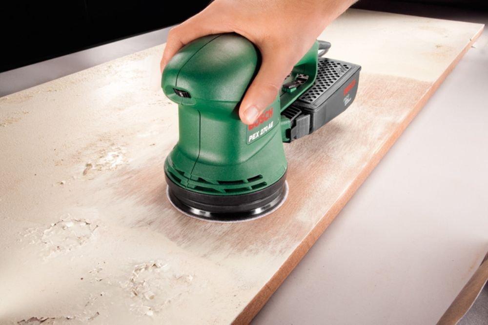 Bosch 2 609 256 A21 Juego de hojas de lija de 6 piezas para lijadora exc/éntrica