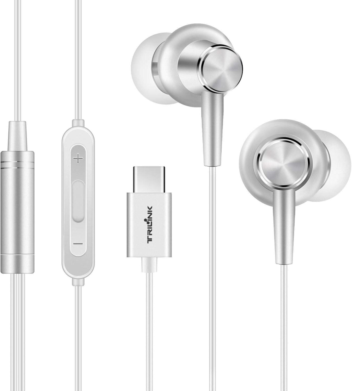 USB tipo C Auriculares de botón para Huawei Mate 30/20/10/Pro/RS/X, P30/P20/Pro, Xiaomi Redmi Note 7/Note 6 Pro/7/6A, Mi A3/A2/A1/8 Lite/8/8 SE/9T/9/9/Pro/9 SE/CC9/K20 Pro/Max/Mix-Auriculares In-Ear
