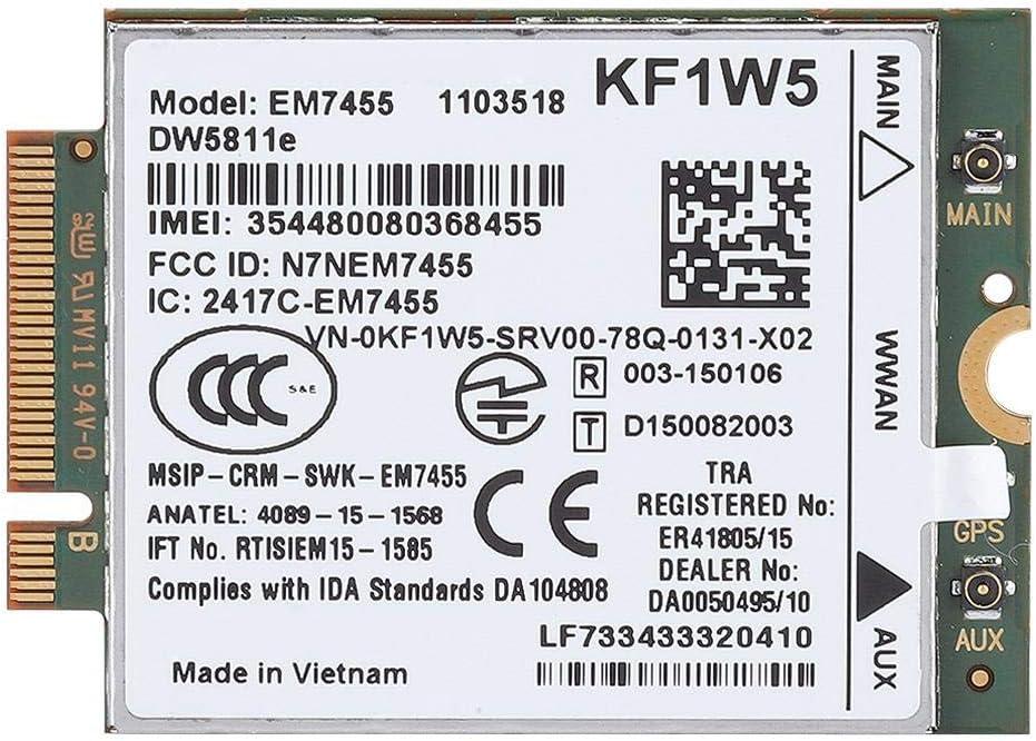 Tarjeta EM7455 Wireless 4G LTE WWAN NGFF para Dell Latitude