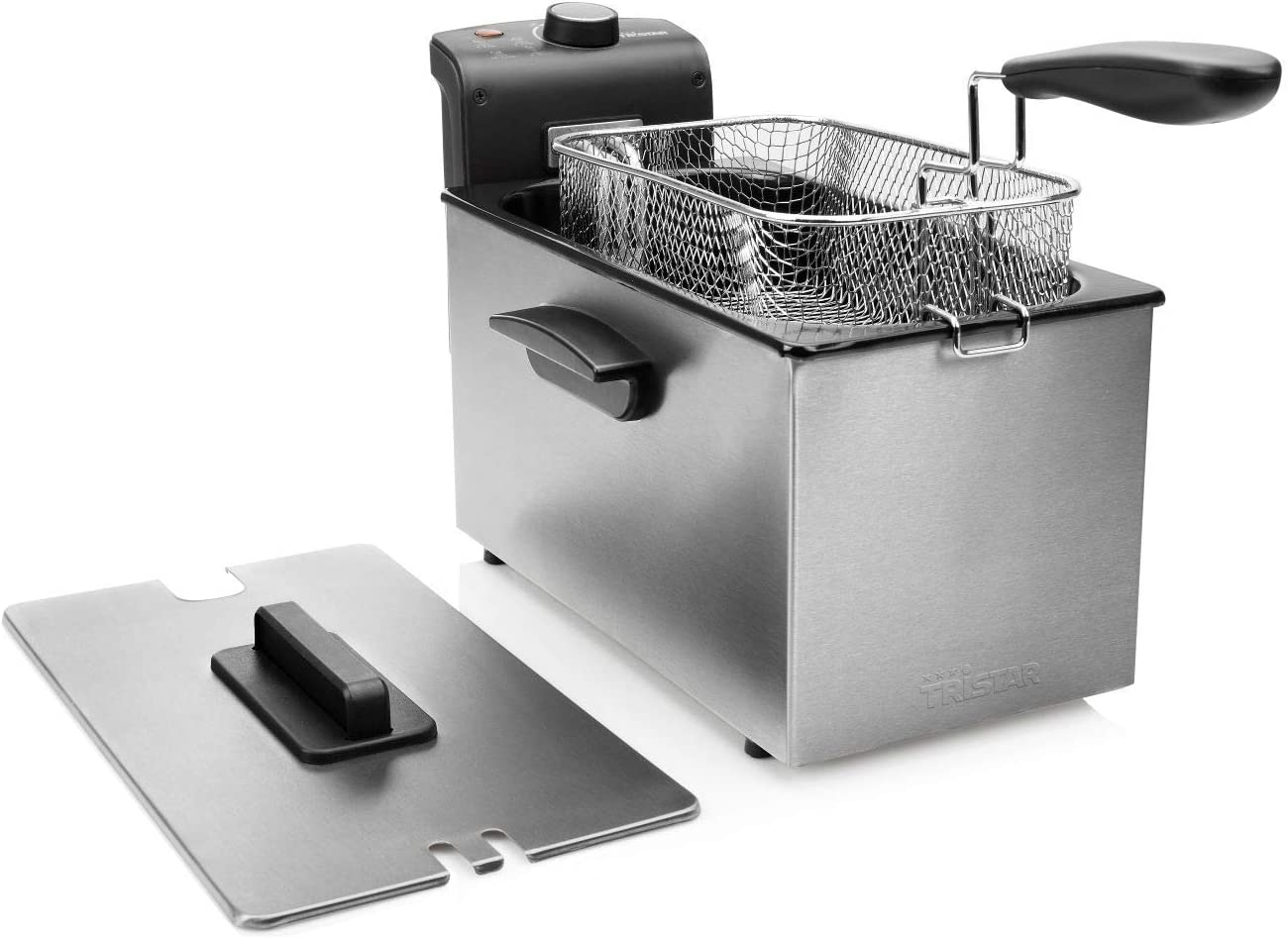 Tristar FR-6946 Freidora, capacidad de 3 litros, potencia de 2000 W, Acero inoxidable, plata y negro: Amazon.es: Hogar