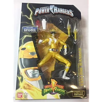 Mighty Morphin Power Rangers Legacy Collection Limited Edition 6.5 Inch Yellow Ranger with Metallic Finish and Exclusive Weapons: Toys & Games
