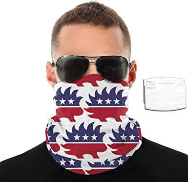 Unisex Neck Gaiter Arkansas Razorbacks Windproof Face Mask Scarf Bandanas for Dust Sun Protection