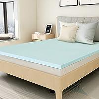 Mattress Topper Twin, 1.5 inch Gel Memory Foam Mattress Topper Pad for Twin Size Bed