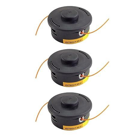 MagiDeal 3 Stück Auto Cut 25-2 Nylon Linie Bump Kopf Für STIHL FS55 FS70 FS80 FS90 FS100 FS120 Trimmer Strimmer Freischneider