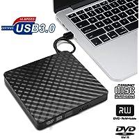 Externes DVD-Laufwerk - Usb3.0 Ultraflacher Tragbarer DVD-Cd-Rw-Brenner FüR Kopierer, Laptop, Notebook, Desktop, Mac, UnterstüTzt Windows 7/8/10 / Xp/Mac Os