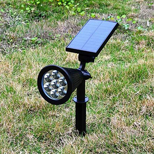 Appreciis Solar Solar Powered LED Adjustable Spotlight Light Landscape Light Dark Sensing Security Lights for Patio Yard Stairs (2
