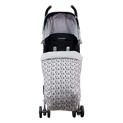 JANABEBE Manta saco cubre pies bebé universal Impermeabilizado (BLACK RAYO, ALGODÓN)