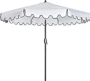 LXYLY Outdoor Patio Umbrella 9-Feet Flap Market Table Umbrella 8 Sturdy Ribs with Push Button Tilt and Crank Umbrella Outdoor Beach Deck Garden Party Decoration