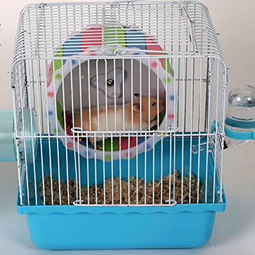 MMdex Colorful Pet  Exercise Running Wheel Toy with 7.5'' Diam for Hamster Mouse Rat Mice by MMdex (Image #1)