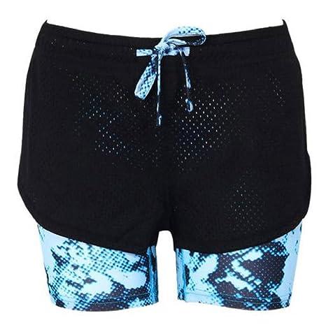 Sannysis pantalón Chandal Mujer Pantalones Cortos de Yoga: Amazon ...