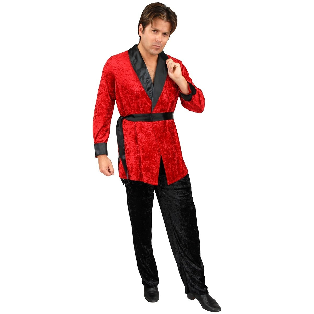 Red Smoking Jacket Adult Costume - X-Large