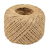 C-Pioneer 50M Hemp Rope Gift Cord String Twine for DIY Crafts and Garden Application