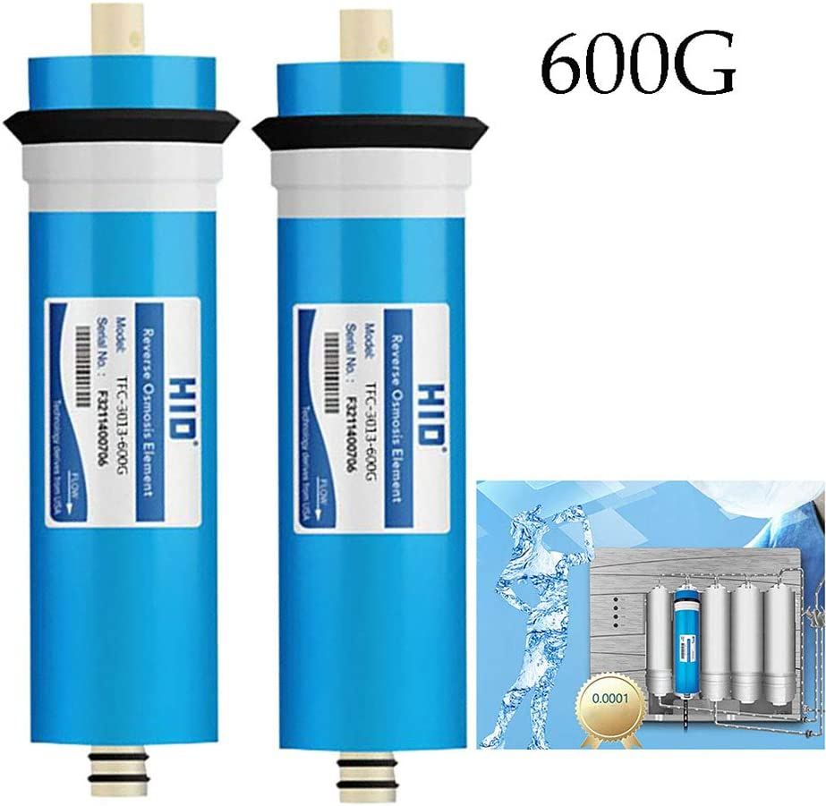 2 Pieces CHJ Water Purifier Universal Reverse Osmosis Membrane 3013-600G RO Household Filter Element