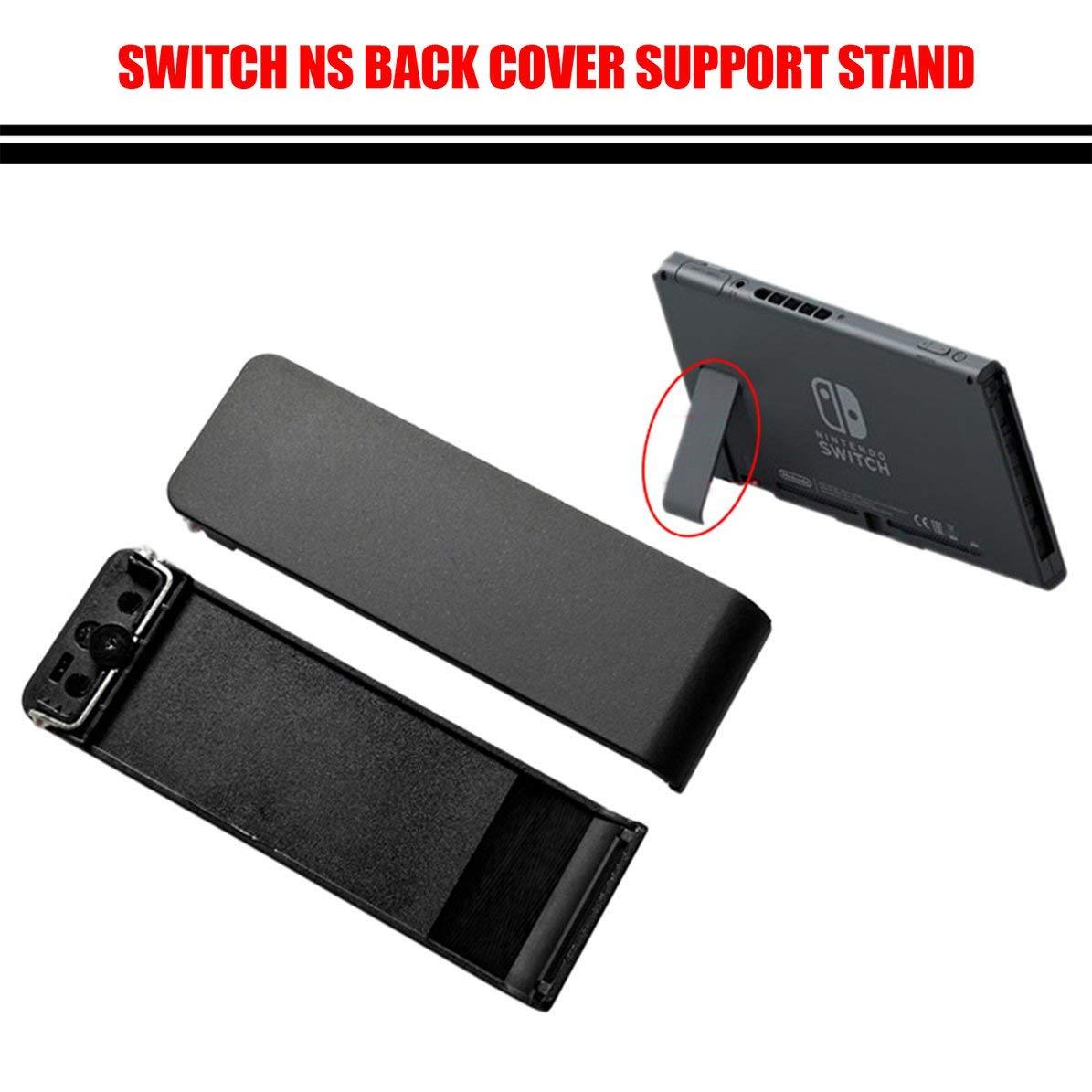 Reparaci/ón Reemplazo Parte Host Back Shell Kickstand Bracket Kit para Nintend Switch Game Console NS negro WEIWEITOE