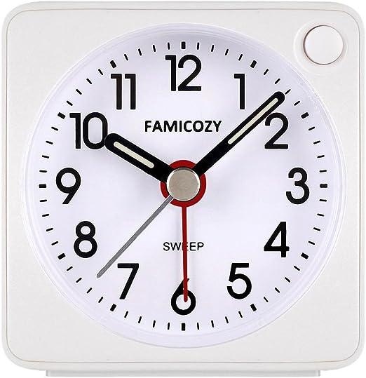 Acctim Ingot Quartz Travel//Mini Alarm Clock Snooze//Light Analogue Face