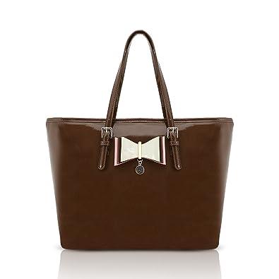 7649fffa5519 LYDC London Large Convenient Handbags Shoulder Bag in Various Colours  Simple Designed with Adjustable Straps (