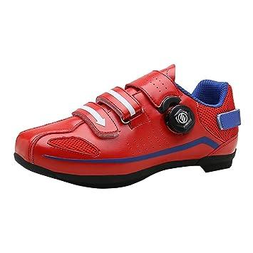 Calzado casual de bicicleta de montaña,Hombres y mujeres zapatillas de deporte respirables Zapatillas de