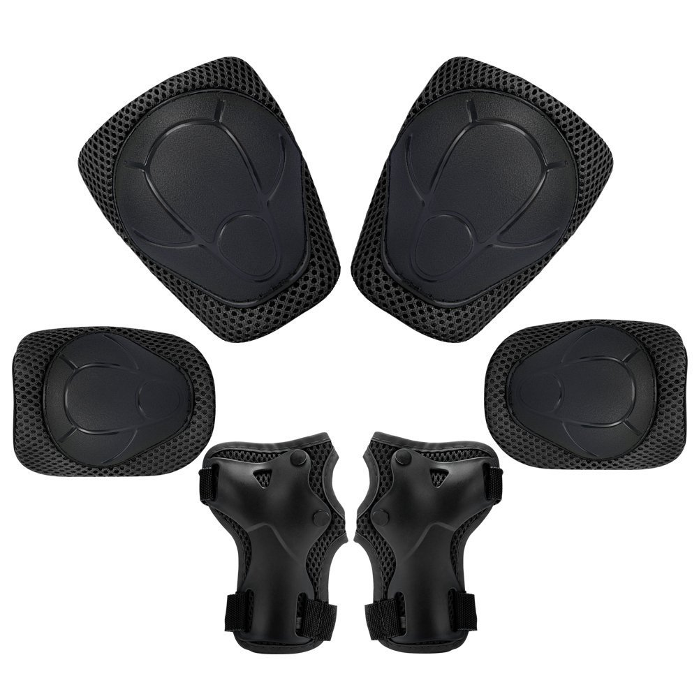 Dolami Set de protección/Juego de Protecciones contra caídas niños con 2X Rodilleras,2X Coderas,2X muñequeras para Deportes de ...