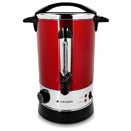 Navaris hervidor de agua eléctrico 6.8L con grifo - Dispensador de bebidas calientes con termostato