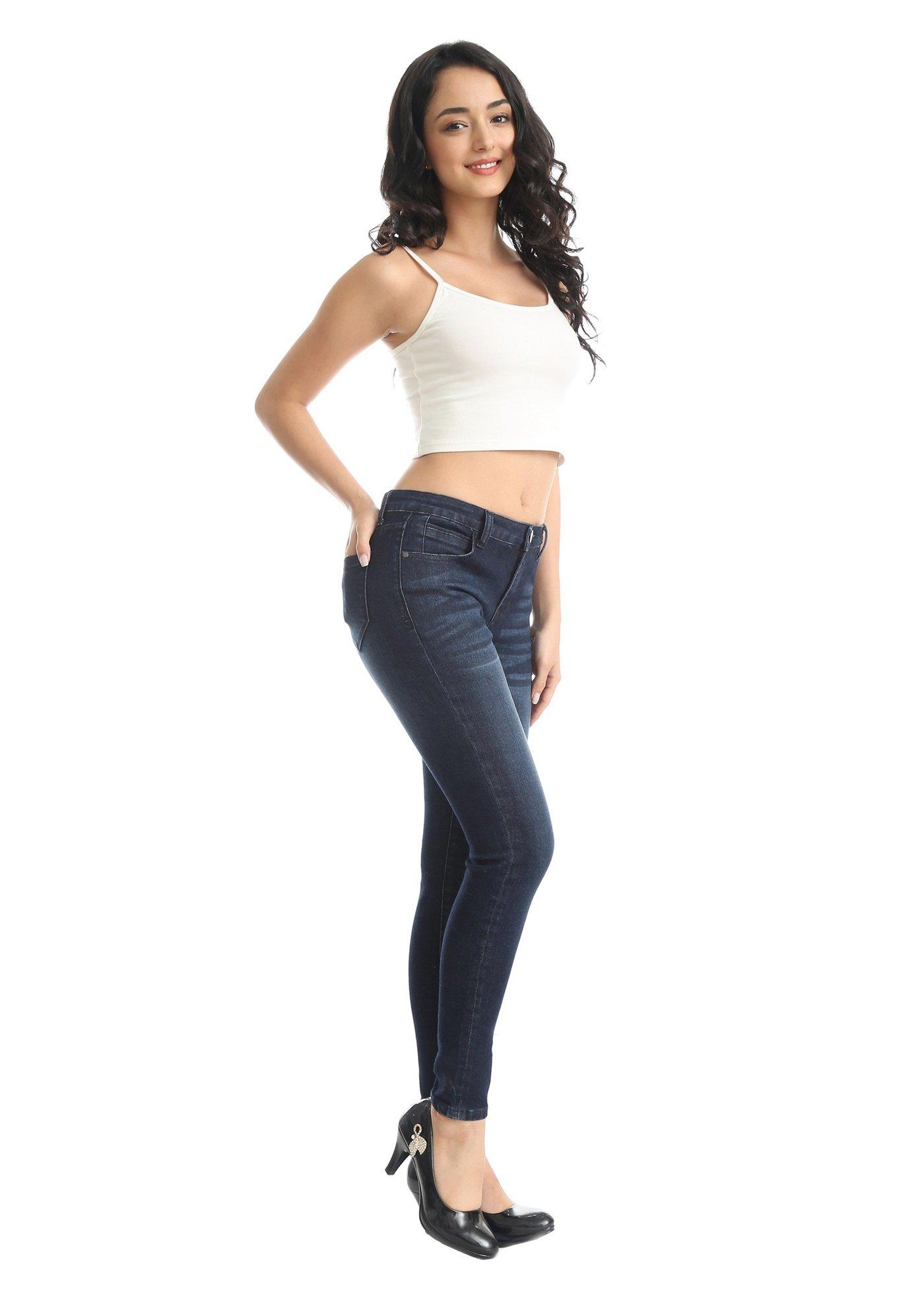 26e0a7a6bb5f ZADDIC Skinny Jeans Women s Casual Butt Lift Stretch Jeans Leggings ...