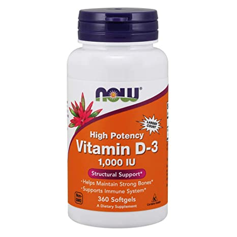 Now Foods | Vitamina D-3 | de alta potencia | 1.000 UI | 360