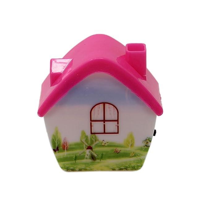Tootpado LED Night Lamp Plug-in Wall Home - Pink (7ELE47) - Kids Room Home Decor Energy Saving Night Light