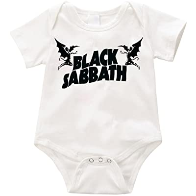 e7c7485c9 Anicelook Black Sabbath funny onesie Romper Unisex Funny Romper Onesie  Creeper