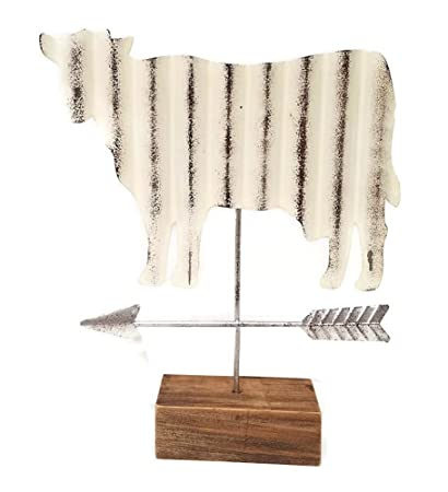 Modern Farmhouse Cow Tabletop Weather Vane Figurine