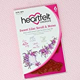 Heartfelt Creations Cling Rubber Stamp Set ~ Sweet Lilac Scroll & Notes, HCPC3818