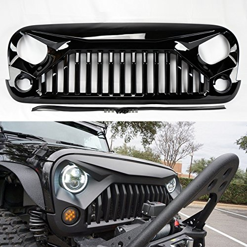 Angry Bird Ii Gladiator Vader Spartan Gloss Black Front Hood Bumper