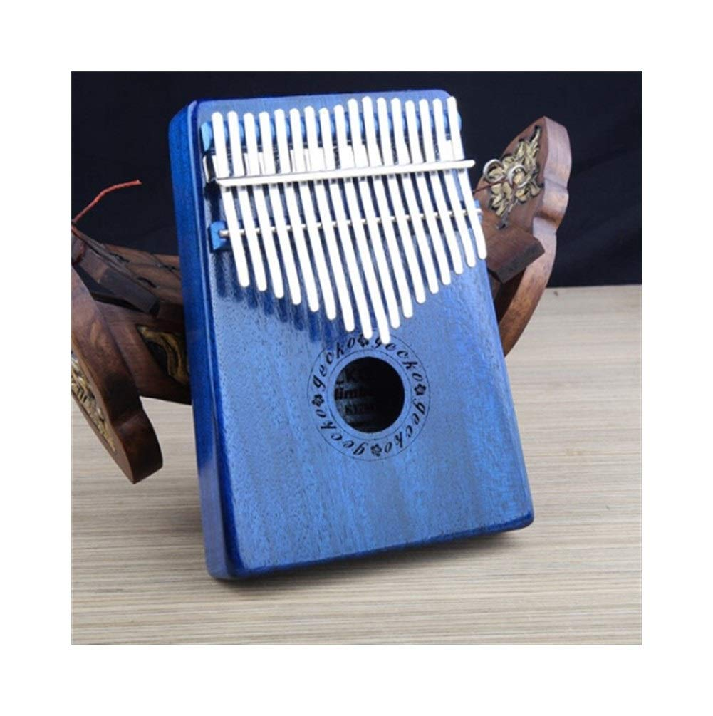 Qiyuezhuangshi Kalimbaqin, a selection of steel shrapnel 17-tone Kalimba thumb piano, suitable for beginners to play beautiful gifts, (gifts; velvet bag + thumb piano + spectrum tuning hammer) Easy to